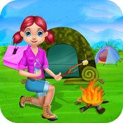 露营 假期为孩子们  夏令营,比赛和露营活动在这场比赛为孩子们和女孩 - 免费