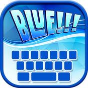 蓝色 键盘 - 霓...