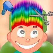 儿童游戏/彩虹头发剪 2