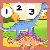 123计数随着恐龙:学会数到十。我的孩子和婴儿第一号 1