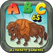 ABC动物西班牙语字母抽认卡:英语词汇学习免费为孩子! 1.0.2