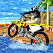 自行车骑手赛车摩托特技