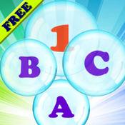 字母,气泡和数字,为幼儿学习英语! - 学习数字和字母的 - 学习通过打 - 游戏的孩子 - 幼儿 - 免费的应用程序