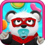 熊猫宝宝熊糖果雨 - 有趣的儿童跳版免费游戏! Baby Panda B