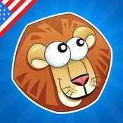 名字的动物!对于婴儿,幼儿和儿童学习游戏有关大草原的动物。
