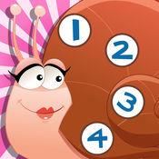 123游戏儿童2-5岁左右的森林昆虫: 学习数 数字1-10的动物,蜘