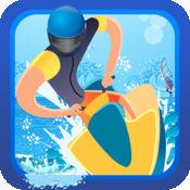 真棒波JAMMIN喷气滑雪冒险 - 热带假期竞渡游戏 1