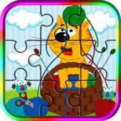 可爱的拼图游戏的孩子和幼儿
