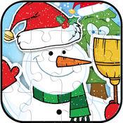 圣诞圣诞老人拼图游戏免费为孩子