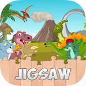 恐龙拼图为孩子容易