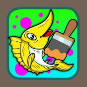 动画片绘画和画的鱼nemo着色