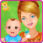 双胞胎宝宝-游戏的女孩 1