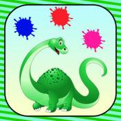 恐龙 染色 书 游戏 对于 孩子 自由