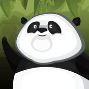 熊猫宝宝的绳索逃生 : 有趣的竹秋千