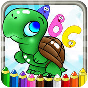 ABC ANIMALS COLORING BOOK  1