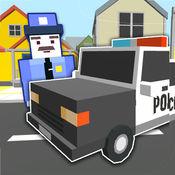 块状警车3D模拟器