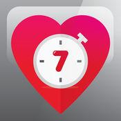 健身锻炼— 六在家里7分钟的锻炼计划和日常的人的训练计划