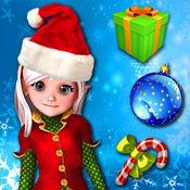 圣诞老人游戏和拼图 - 击压美味的糖果使其收集宝石的圣诞