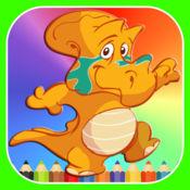 恐龙 填色本 和 滑动 圖像 謎 为 孩子 1.1