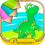 恐龙绘画和魔术标记着色 - PREMIUM 2