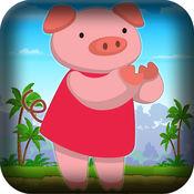 超级猪杂技演员跳跃火拼 - 小猪食品收集游戏 LX