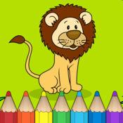 孩子们的游戏着色动物 (Coloring book: Animal & Zoo) 1
