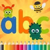 彩图西班牙ABC字母较低和文字游戏的乐趣,为孩子学龄前1-10