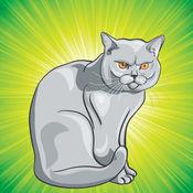 着色的网页:猫和小猫! - 着色页为幼儿 - 儿童游戏 - 为孩子们的应用程序