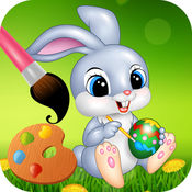 复活节兔子 着色页 - Activity for kids 1
