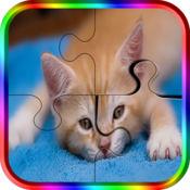 可爱的小猫钢丝锯益智游戏-日常拼图游戏时间为成人和孩子的家庭游戏