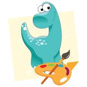 恐龙幼儿童装着色书页学习 1.0.0