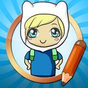 绘画教程对于 Adventure Time 1