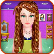 编织 发型 对于 女孩