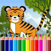 動物著色頁免費 1