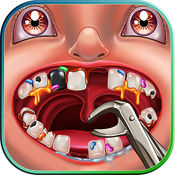 疯狂的牙医 有趣的游戏为孩子们  治疗病人在一个疯狂的牙