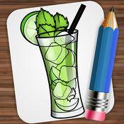 画画 鸡尾酒 1