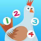 123 儿童2-5岁博弈的农场的动物:学会数数1-10的幼儿园,学前班或幼儿园与农民,牛,猪,马,羊,鹅,鸭,蝴蝶,蜜蜂,树,性质