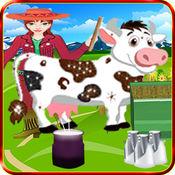 牛奶农场超市女孩骆驼山羊厂