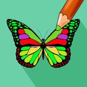 蝴蝶颜色 - 真正的图画书的时效