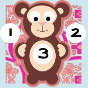 123计数婴儿及儿童游戏是免费的:有趣的玩与学数学的应用软件!我的宝宝第一个号码 - S&小动物