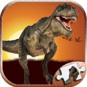 恐龙拼图游戏为幼儿和宝宝