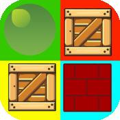 砖,点,与盒 - 匹配2d中的多维数据集和球 1