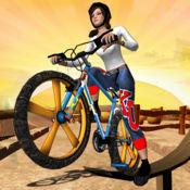bmx女孩自行车特技 - 3D赛车游戏