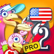 """儿童英语 2:Mingoville中的""""家庭ABC"""" - 益智游戏立志于教给儿童6-12个与此题目相关的英语动词,名词和副词而开发。其中更包含25种不同语种的字典和互动帮助儿童更好地学习发音,听力和写作"""