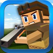 战役座城市犯罪防御:像素战争Guncraft狙击手射击游戏