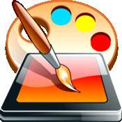 绘制颜色和涂料 - 趣味涂鸦的素描和图片刷油漆
