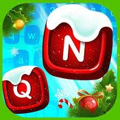 圣诞 表情符号 键盘 对于 iphone和iPad  新年快乐 墙纸