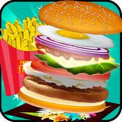 汉堡制造商厨师 - 烹饪比赛热超法师汉堡包店汉堡王食品发烧