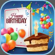 生日 的问候 卡 设计师 -  制作 滑稽 得牌 和 祝 大家 快