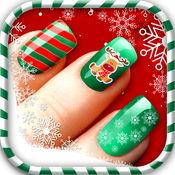 圣诞 指甲 沙龙 - 时尚 美甲 的想法, 美丽的 设计 和 美容 水疗中心 工作室